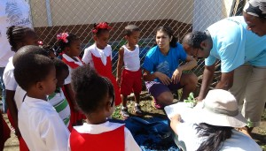 Earth Box Lesson at Kids Step St Lucia
