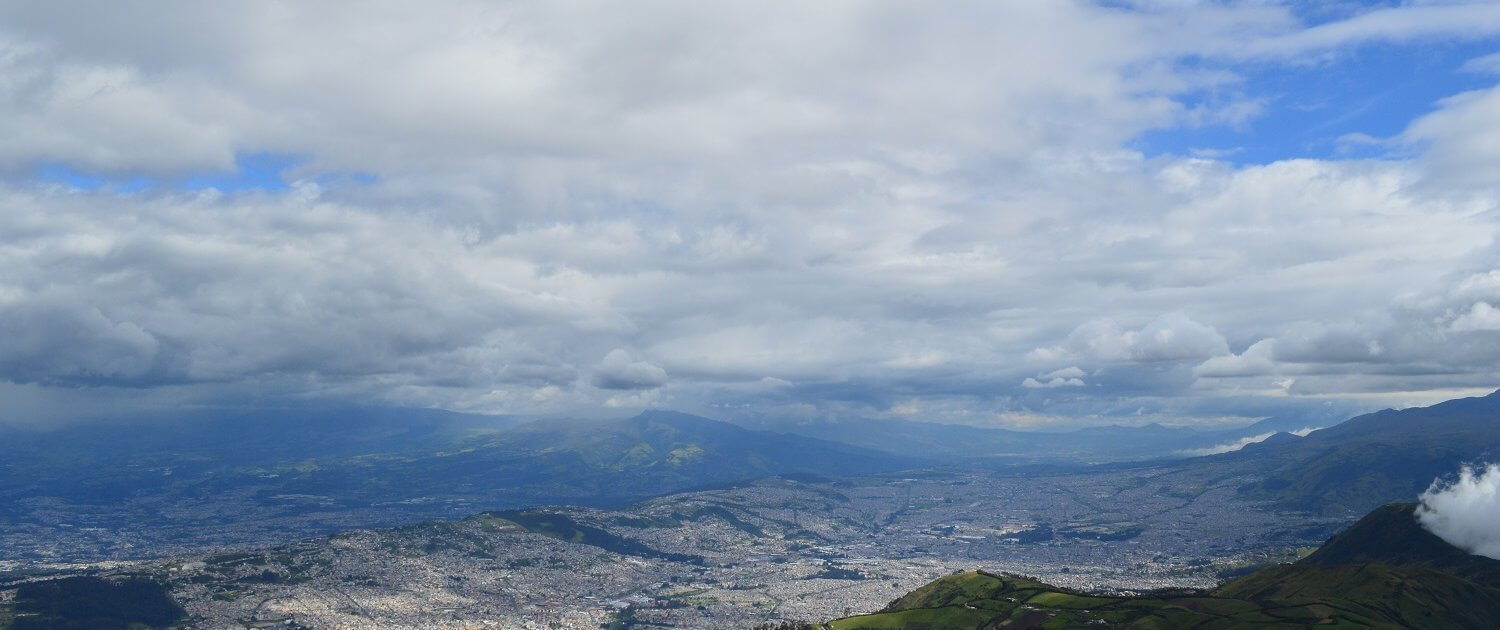 Quito from one of the world's highest aerial lifts