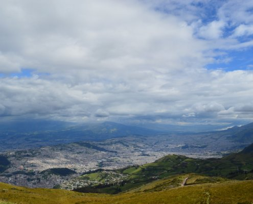 View of southern Quito from the TelefériQo