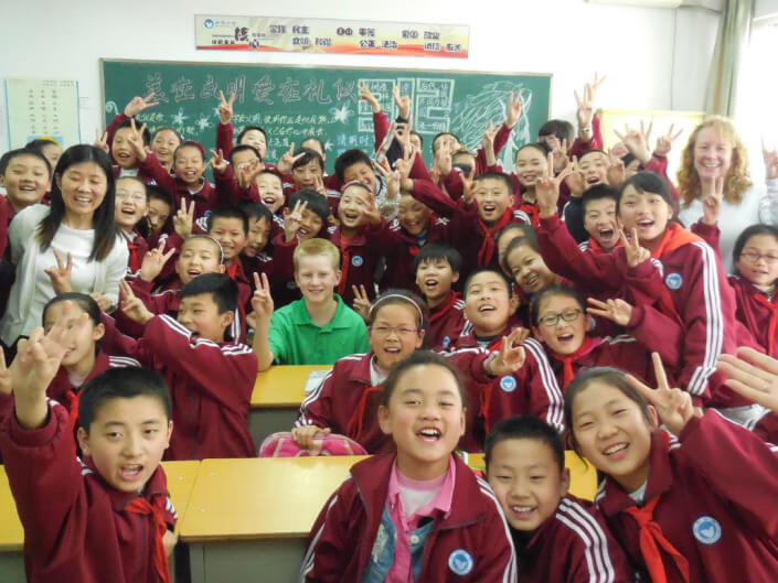 volunteer as a family in China