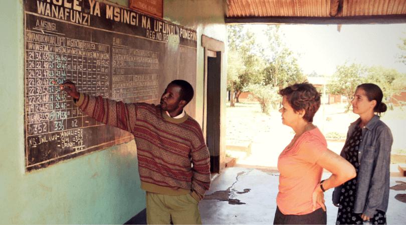 Short-Term Volunteers in the school