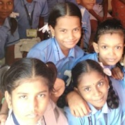 teaching students in India