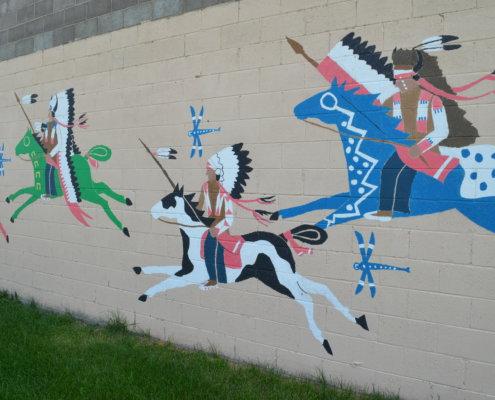 mural on the Rosebud Reservation