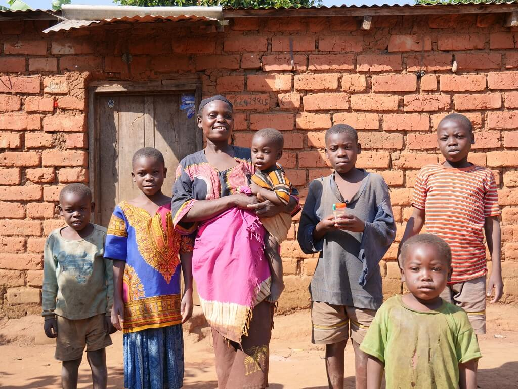 Mother and children participate on the RCP program in Ipalamwa, Tanzania