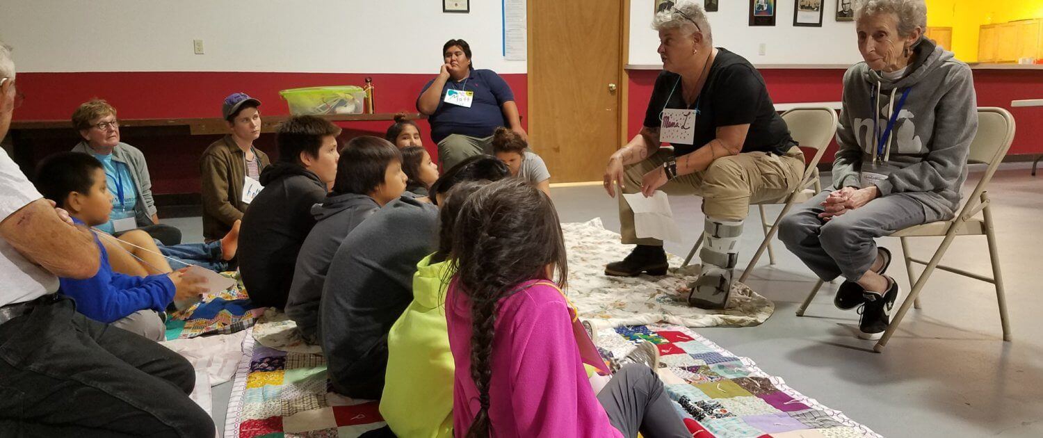 day camp students on the Rosebud Reservation of South Dakota.