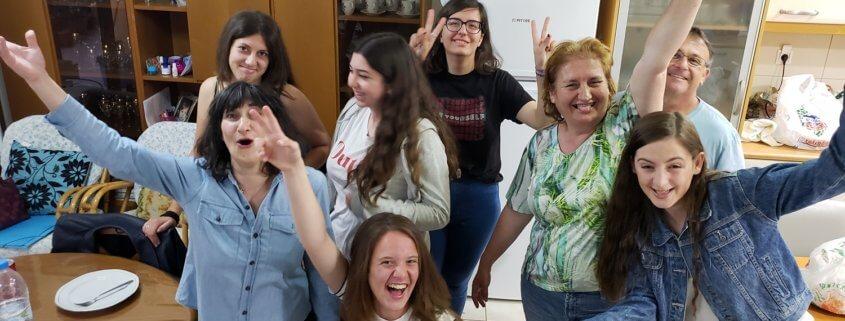 Students at Tenia's school, Crete Greece.