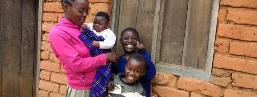 women children baby village tanzania