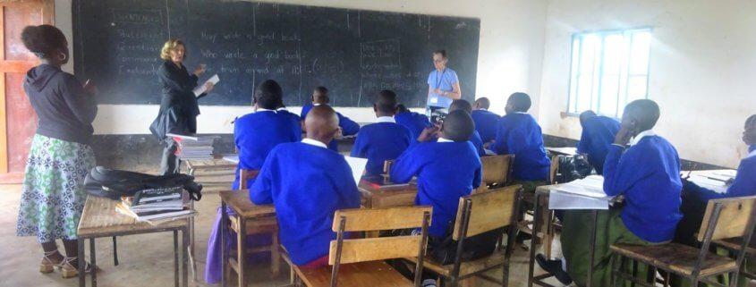 international Volunteers teaching at a secondary school in Tanzania